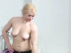 Babe Casting Lesbian Masturbation Secretary