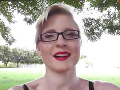 Big Boobs Blonde German Outdoor