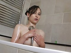 Nipples Shower Skinny Small Tits Teen
