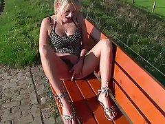 Amateur Blonde Creampie Outdoor