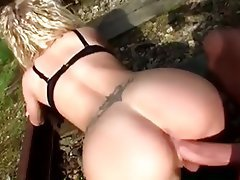Amateur Blonde Blowjob MILF Outdoor