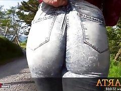 Big Butts Spanish Teen Brunette Jeans