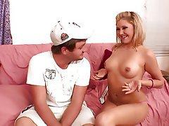 Blonde Blowjob Small Tits Cunnilingus Cum in mouth