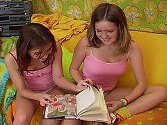 Babe Brunette Cute Lesbian Panties