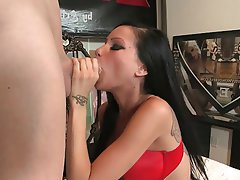 Big Boobs Blowjob Brunette Facial Lingerie