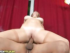 Big Tits Blowjob Glasses Stockings Teen