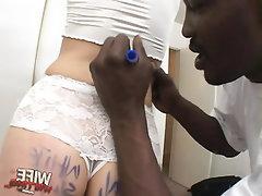 Babe Blowjob Cumshot Ebony Fetish